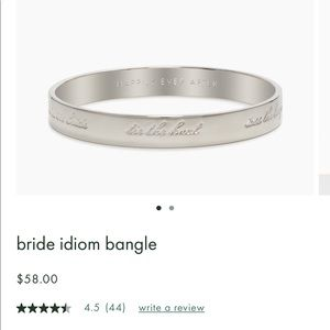 KATE SPADE bride idiom bracelet